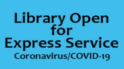 Library is Open Curbside